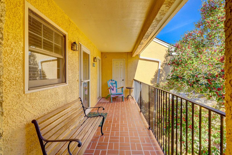 2nd floor front porch balcony. No elevator in building. Requires 15 stairs