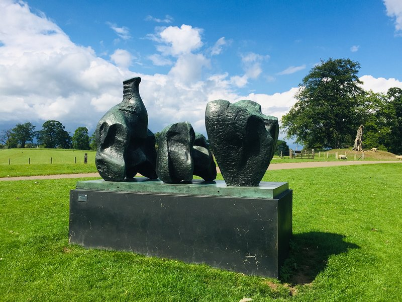 The yorkshire Sculpture Museum is free and just 40 minutes drive from us