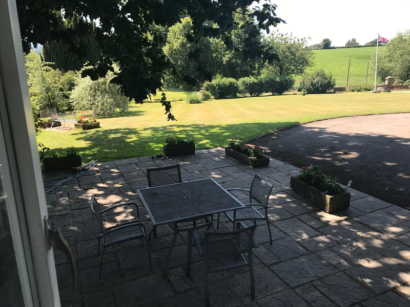 View from the patio outside the Granary at Benhall Farm