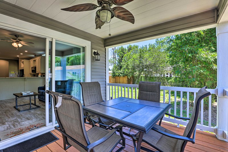 This home boasts a furnished deck.