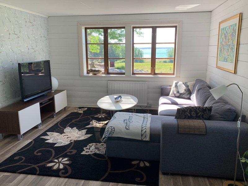 Vardagsrum med TV, om man nu behöver en TV med den utsikten ;-)