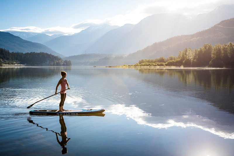 Stand up Paddle Boarding on Alta Lake