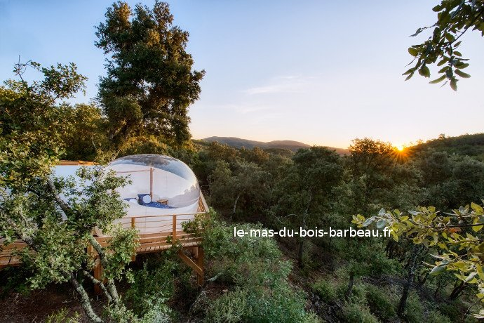 Hébergement insolite dans une bulle en Cévennes, aluguéis de temporada em Le Martinet