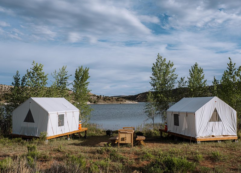 Tentrr State Park Site - Red Fleet State Park: Waterfront Double Campsite, holiday rental in Vernal