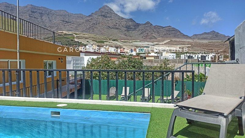 VILLA LOS LLANOS- Pool , sun, quiet place, casa vacanza a La Aldea de San Nicolas de Tolentino