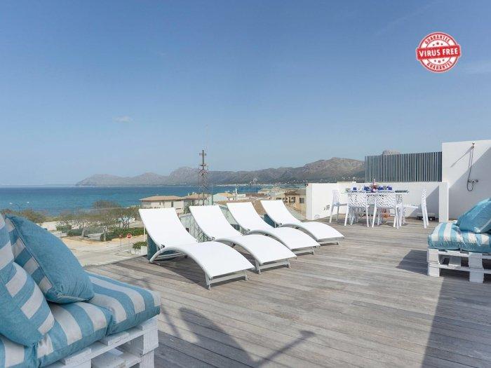 Sea View House with terrace Son Serra Mallorca, holiday rental in Son Serra de Marina