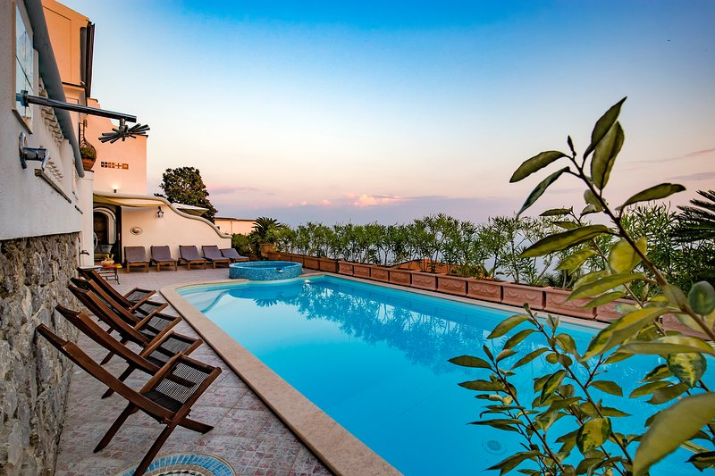 Villa Elena a exclusive villa with sea view in the heart of Amlfi Coast, holiday rental in Conca dei Marini