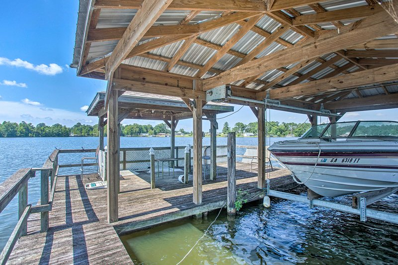 Dock your boat on this vacation rental's private dock!