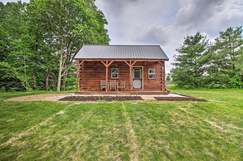 NEW! Quiet Cabin w/ Grill, Pond + Walking Trails!, alquiler de vacaciones en New Carlisle