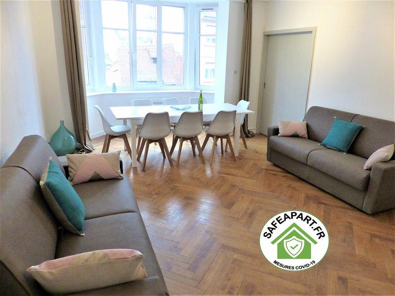 OBERLIN *** appartement 2 Chambres + Séjour + 2 W, holiday rental in Plobsheim