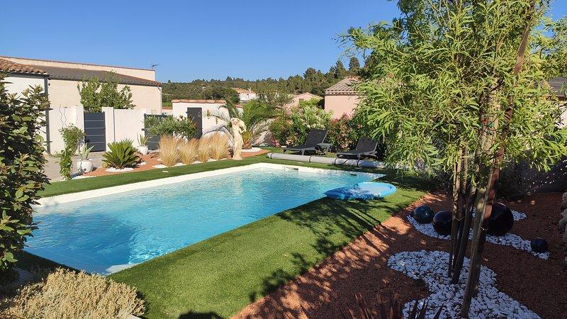 Joli studio dans villa de charme avec piscine, vakantiewoning in Saint-Andre-de-Roquelongue