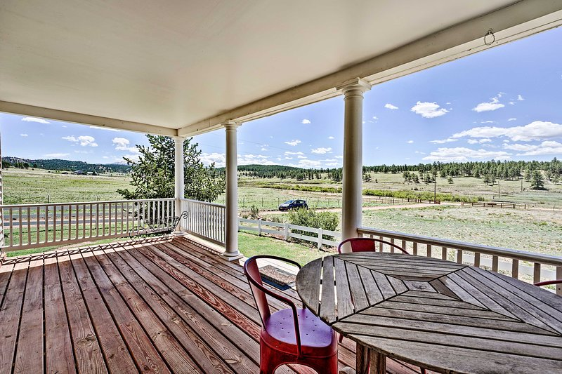 You'll love starting and ending your days on the covered porch.
