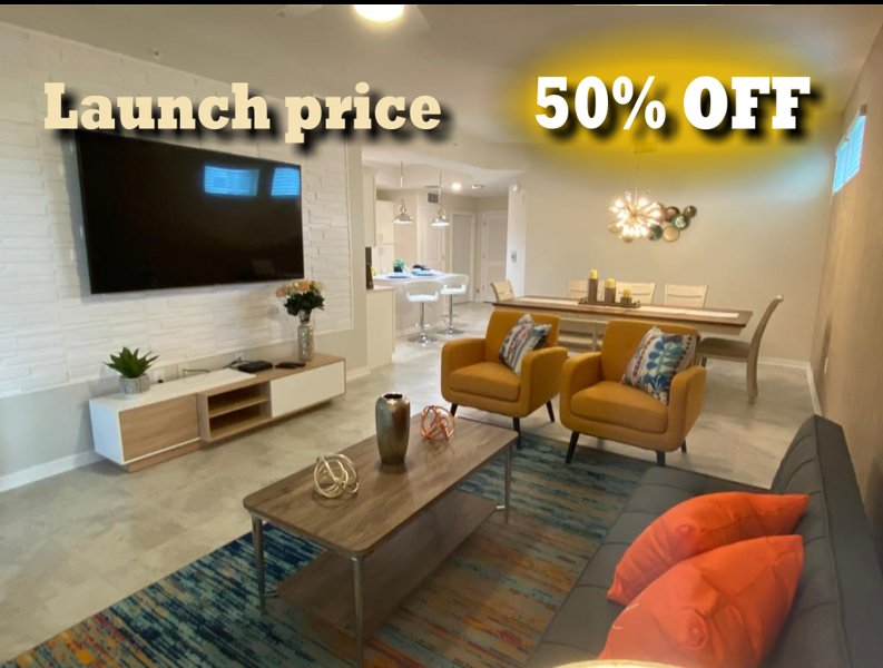 RISK FREE -  BE THE FIRST GUEST - 3bdrm FANTASTIC NEW BRAND CONDO 5 MIN DISNEY, holiday rental in Orlando