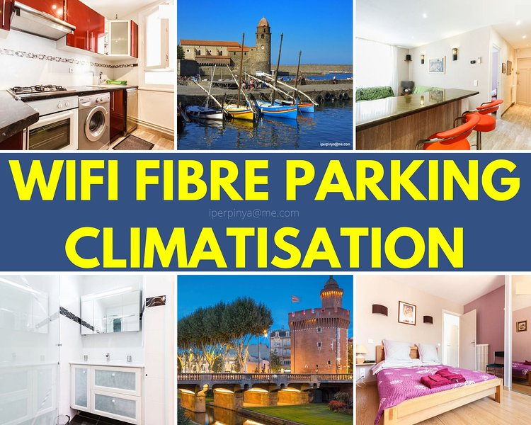 agreable 50M2  calme parking climatisation wifi centre, plage canet-roussillon, location de vacances à Perpignan
