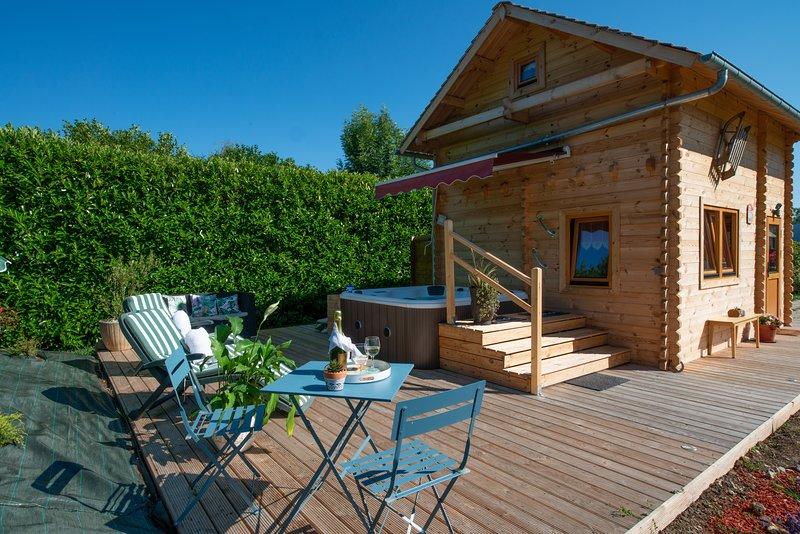 Chalet & SPA sur la Côte Fleurie, location de vacances à Annebault