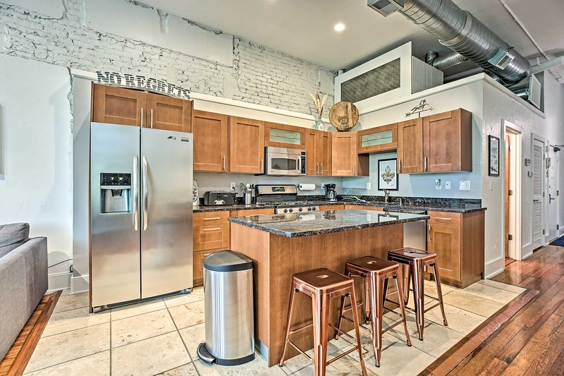 This vacation rental is well appointed with stainless steel kitchen appliances!
