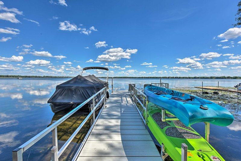 You'll love having access to this private dock!