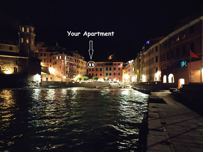 Your apartment in the night