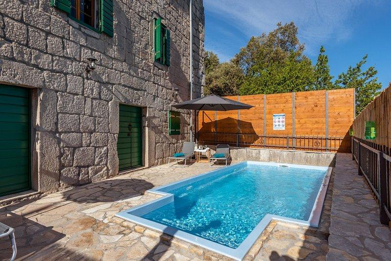 Villa Lazini Dvori - Two Bedroom Stone House Villa with Private Pool, holiday rental in Kobiljaca