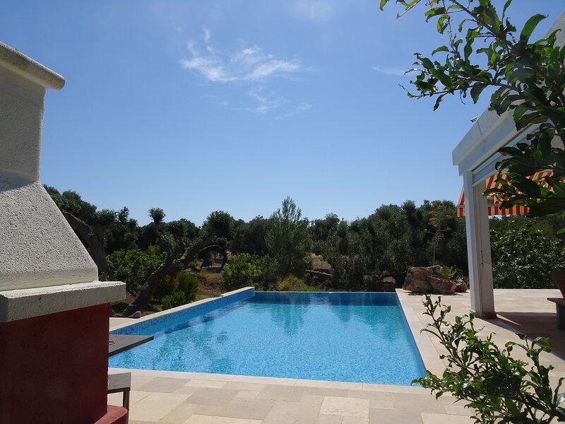 La Lamia / Ferienhaus mit Infinity Salzwasserpool, holiday rental in San Vito dei Normanni