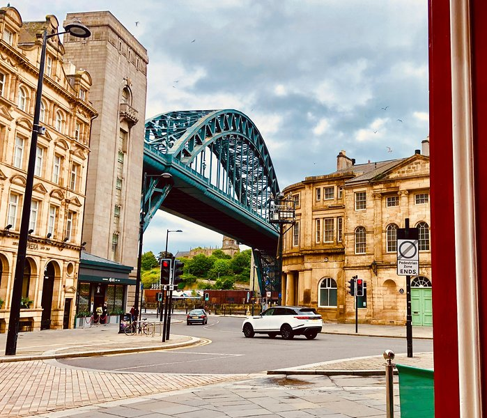View of Tyne Bridge from lobby