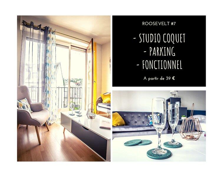 ROOSEVELT #7 - Studio coquet - 1 Chambre, location de vacances à Allassac