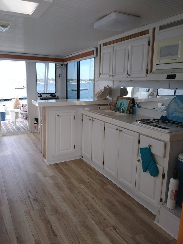Galley and small bar.