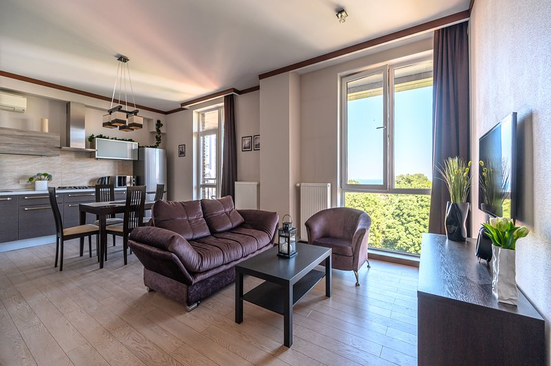 Vip apartment in luxury complex with sea view, holiday rental in Odessa