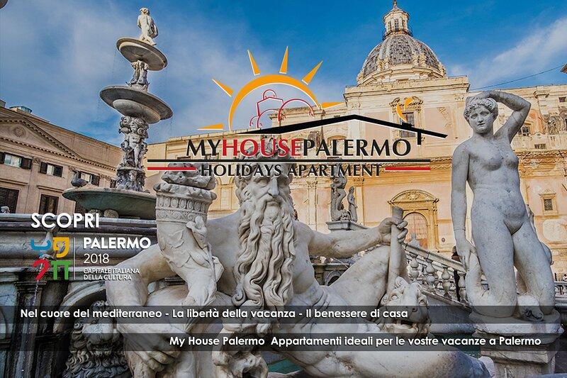 Appartamento Palermo centro 2/6 posti  Wi-Fi, holiday rental in Contessa Entellina