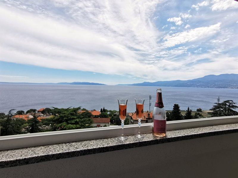 Kvarner Sea View Apartment Rijeka, holiday rental in Rijeka
