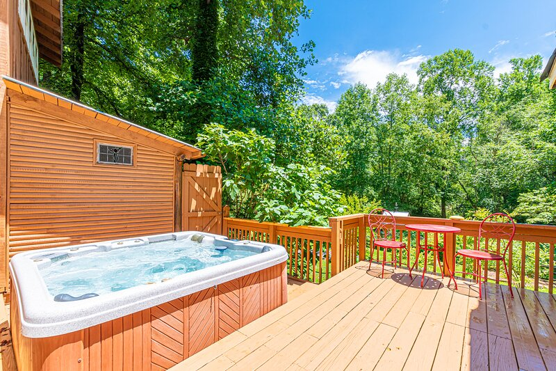 Blue Creek Shoals | 2 BR 2 BA | Hot Tub & Fire Pit | Creek Front | Trout Fishing, holiday rental in Demorest