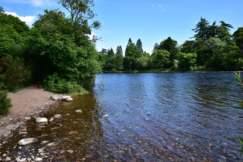 The River Ness, looking towards Ness Islands where walks can be enjoyed.