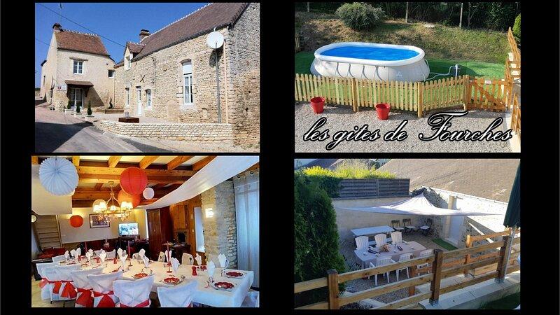 Les gites de Fourches, Gites de charmes pouvant accueillir 18 personnes, holiday rental in Fresne-la-Mere
