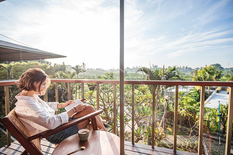 NEW Treehouse in Canggu with rice fields views - Plumeria, holiday rental in Buduk