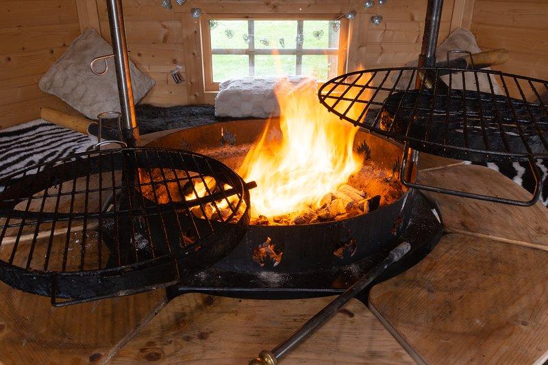 Fire in BBq