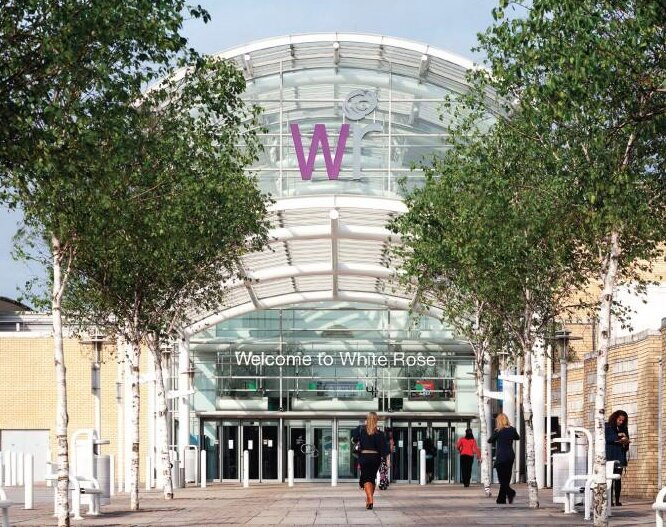 White Rose Shopping Centre 8 minutes drive or bus