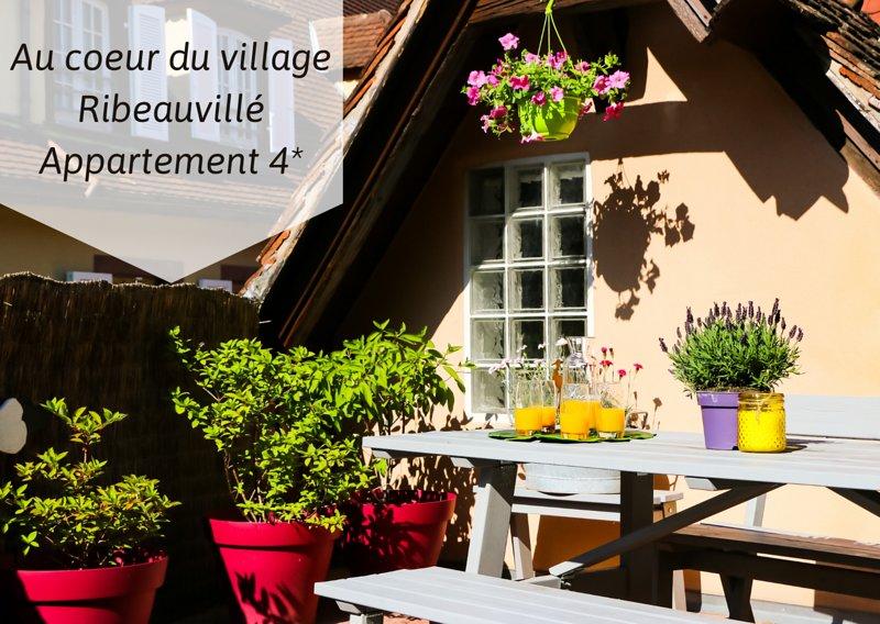 LES HYDRANGEAS : un appartement classé 4*,avec une grande terrasse !, holiday rental in Ribeauville