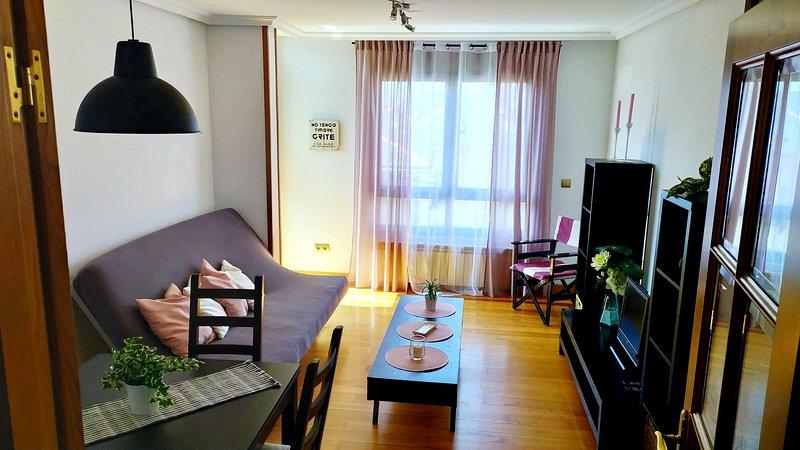 Céntrico y cómodo apartamento en Puerto de Vega, location de vacances à Navia