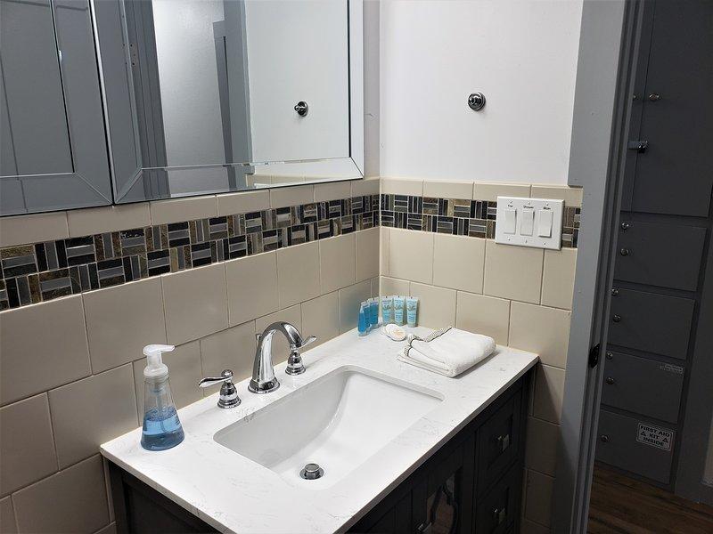 Main Bathroom sink.