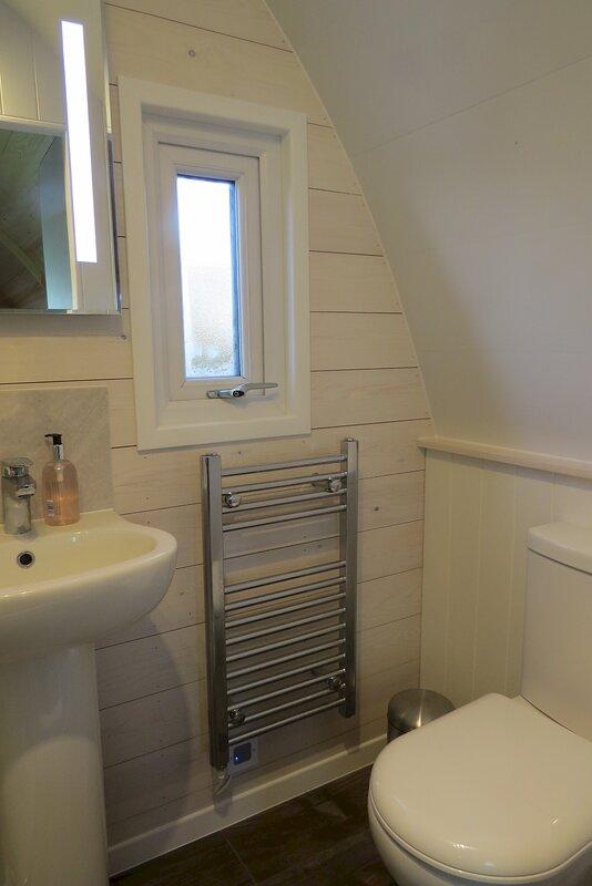 En suite toilet and washbasin
