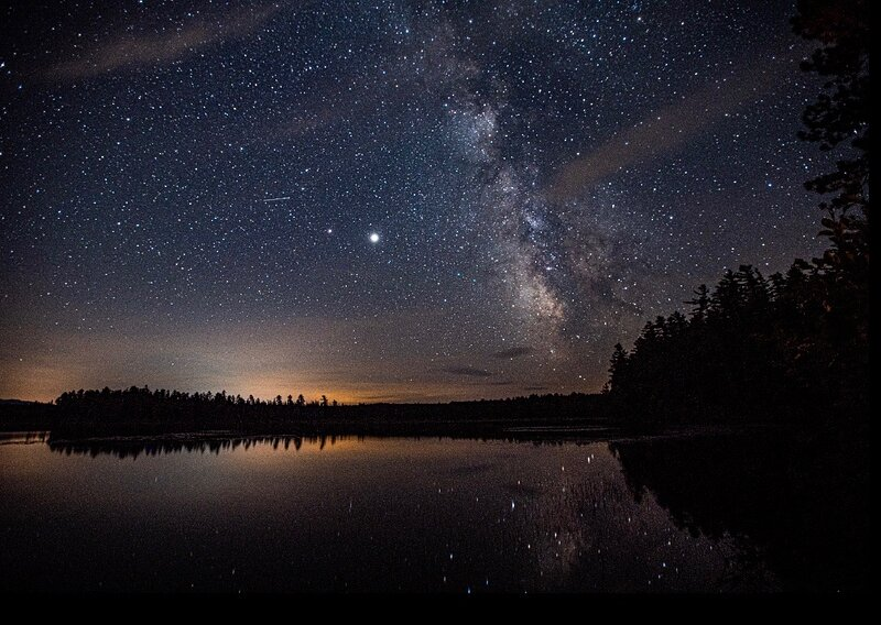 Big Adirondack night sky, 15 minutes from Magical Treehouse.