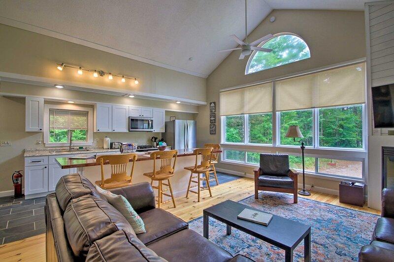 A relaxing retreat awaits at this stunning North Conway vacation rental.