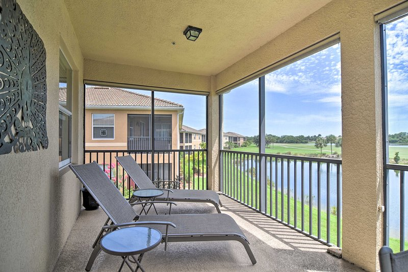 Private Covered Balcony   Golf-Course View   Patio Furniture