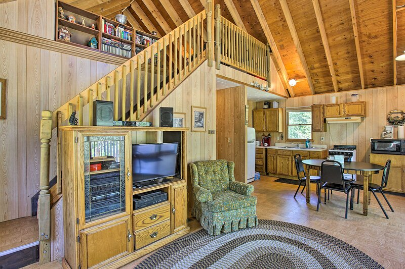 NEW! Cabin on 5 Private Acres w/ Grill & Gazebo!, vacation rental in Irons
