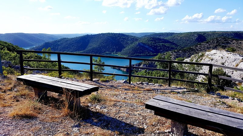 The viewpoint Mouth of Cikola river.