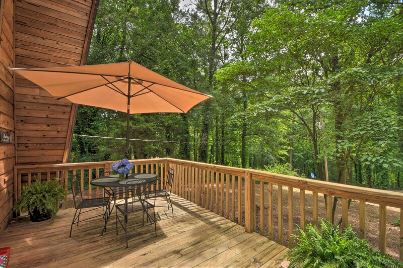 Surround yourself with nature at this vacation rental.