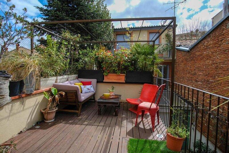 Ingres - Magnifique T2 avec terrasse, location de vacances à Beauzelle