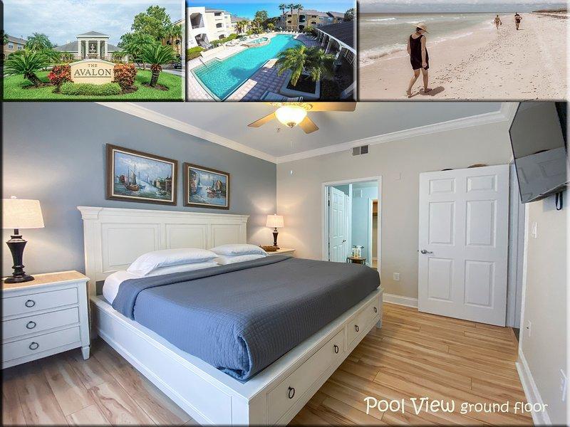 POOL VIEW modern condo near Gulf of Mexico Beaches. Retreat for two, location de vacances à Belleair