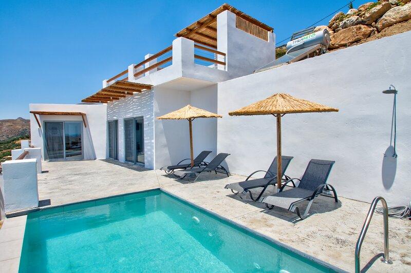 PyrgosExcl4 Incredible sea view,Private pool, Tavern, location de vacances à Rodakino