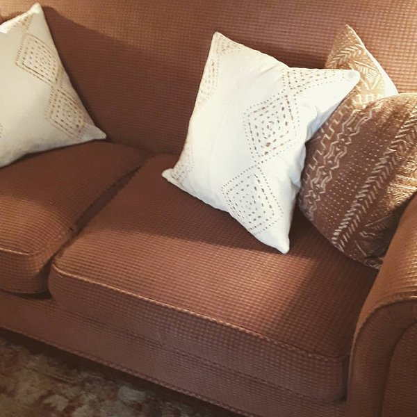 Eight or Great SemiAnnual refresh program our new Mud Cloth couch pillows 7/25/20